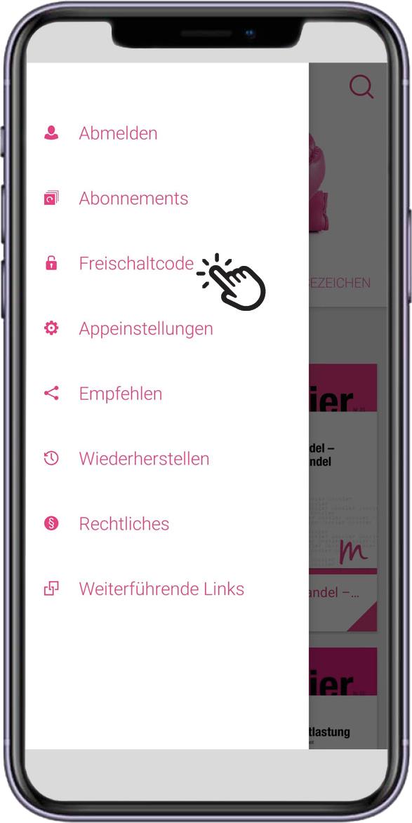 App_MMP_Menu_Freischaltcode